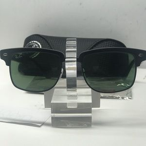 New Ray-Ban RB4190 Clubmaster Square 877 Black